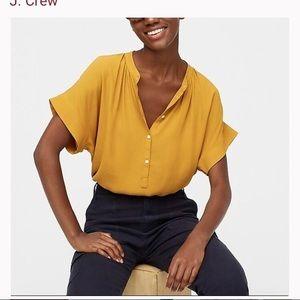 J. Crew Point Sur popover silk blouse